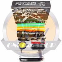 Senter Police Swat C2 Led Zoom Q5 Power Style 99000 Watt + Baterai Rec