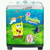 Jual stiker mesin cuci depan aja motif spongebob Murah