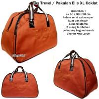 harga Tas Travel Bag Elle Pakaian Besar Coklat Tokopedia.com