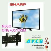 "LED TV SHARP 24"" AQUOS 24LE170 GARANSI RESMI / SMART TV / FLAT TV"