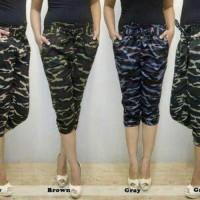 Jual celana pendek army model jogger pant cewe wanita ALL size fito XL Murah