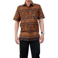 harga Kemeja Batik Heritage Royal Peach Mandau Hitam Slim Fit Tokopedia.com