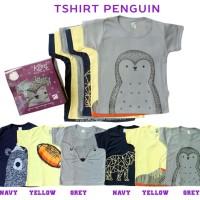 Kazel T-Shirt Bayi Unisex Bahan Halus Pinguin
