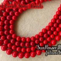 harga Manik Batu Alam Natural Red Coral Stone Beads - Bahan Kalung Tokopedia.com