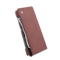 SALE!!! KRUSELL Kalmar Wallet Case Sony Xperia T3 Original - Brown