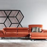 Sofa Minimalis Elegan. Kulit. Cellini