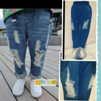 Fashion Pant Ripped Kids Branded Import Celana Jeans Sobek