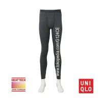 CELANA LONGJOHN PRIA UNIQLO MEN HEATTECH TIGHTS 172761 DARK GREY 08