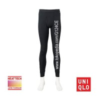 CELANA LONGJOHN PRIA UNIQLO MEN HEATTECH TIGHTS 172761 BLACK HITAM