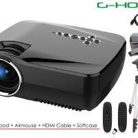 Jual Mini Projector GP70UP Android free Kabel HDMI, Airmouse, Tripod, Tas Murah