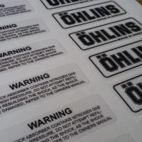 Sticker Tabung Shock Ohlins (Original Look alike)