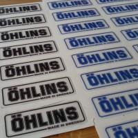 Sticker Ohlins kecil untuk di Stabilizer stang & Shock depan