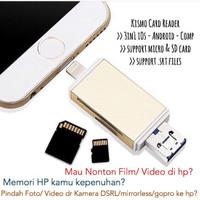 Jual KISMO CARD READER OTG IPHONE ANDROID 3in1 Murah