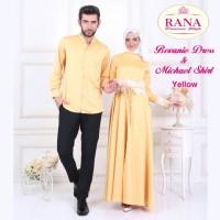 Rana Bevanie Dress Gamis Pesta Brokat Busui Satin Cantik Gold Polos