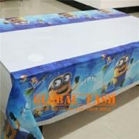 table cover karakter minion / taplak meja pesta