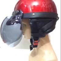Jual Beli helm bogo retro rider setengah kulit Baru | Helm Full Face