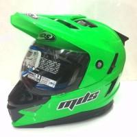 Jual Beli helm mds Super Pro Solid Green Fluo Baru | Helm Full Face