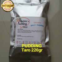 Bubble's Taro Premix Silky Pudding powder 220gr,bahan bubuk puding