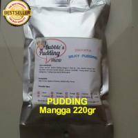 Bubble's Mangga Premix Silky Pudding powder 220gr, bahan bubuk puding