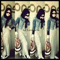 Maxi MNG Setelan Blazer Jeans Set Hijabers Cantik Denim Wanita A060