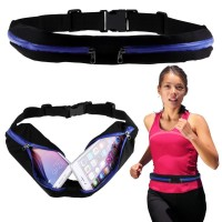 Tas Pinggang Double Sport Belt Running Jogging Golf Warna Biru Tua