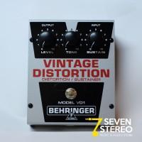 Behringer VD1 Vintage Style Distortion Sustainer pedal efek [ VD 1 ]