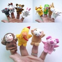Jual Grosir Boneka Jari 12 animal shio zodiac chinese finger puppet toy Murah