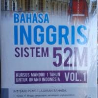 Buku Bahasa Inggris Sistem 52M Kursus Mandiri 1 Tahun Vol. 1