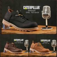 Sepatu Boots Pria Caterpillar Safety Ujung Besi