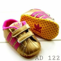 Sepatu Prewalker Adidas Golden Pink / Sepatu Baby / Sepatu Bayi Baru  