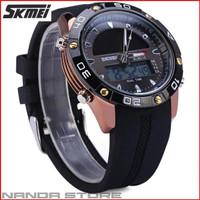 Jam Tangan Pria Tenaga Surya SKMEI Solar Power Sport LED Watch Anti Ai