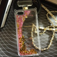 iPhone 5 5s Luxury Coco Chanel Water Glitter Bottle Parfume Case Cover