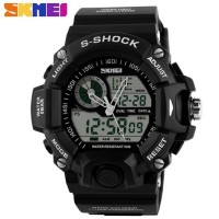 S-Shock Men Sport LED Watch Water Resistant 50m - AD1029