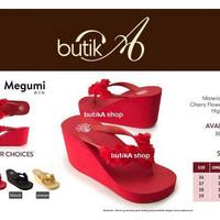 Harga sandal megumi wanita cherry sandal spon ringan empuk nyaman | Pembandingharga.com