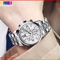 Jam Tangan Skmei Stainless Steel Casual Unisex Korean Fashion Watch Wa
