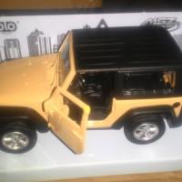 Diecast mobil Jeep Wrangler skala 1:38