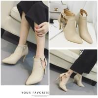 harga Boots Elegant 9 cm Heel SHB39096 #Fashion Boots Import Tokopedia.com