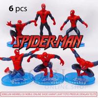 BEST PRODUCT Spiderman Figure 6pc -Action Figure Spiderman- Super Hero
