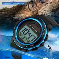 Jual JAm Tangan Pria ORIGINAL SKMEI LED Casio Water Resistant Karet Asli Murah