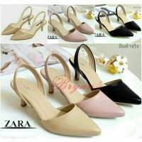 HIGH HEELS ZARA BASIC REPLIKA ( KREM , PINK, HITAM )