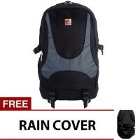 Polo Adventure Laptop Backpack - Abuabu + Raincover / Tas Ransel Polo