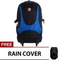 Polo Adventure Laptop Backpack - Biru + Raincover / Tas Ransel Polo