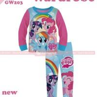 pakaian anak perempuan / 203L baju setelan kaos piyama little pony