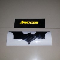 Jual (stiker) sticker mobil batman dark night logo bahan karbon hitam Murah