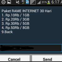 paket internet 3G AS murah 1GB 10rb - 8GB 50rb 24jam