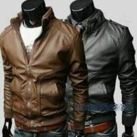 Jaket kulit fashion korea Pria Laki Cowok model korea keren Men Jacket
