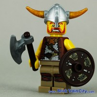 Lego Original Minifigure Viking Guy Man Series 4
