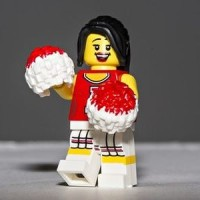 Lego Original Minifigure Red Cheerleader Series 8