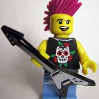 Lego Original Minifigure Punk Rocker Rock Guy Series 4