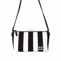 DISKON VONA Costa (Hitam Putih) - Tas Wanita Selempang Sling Bag Clutc